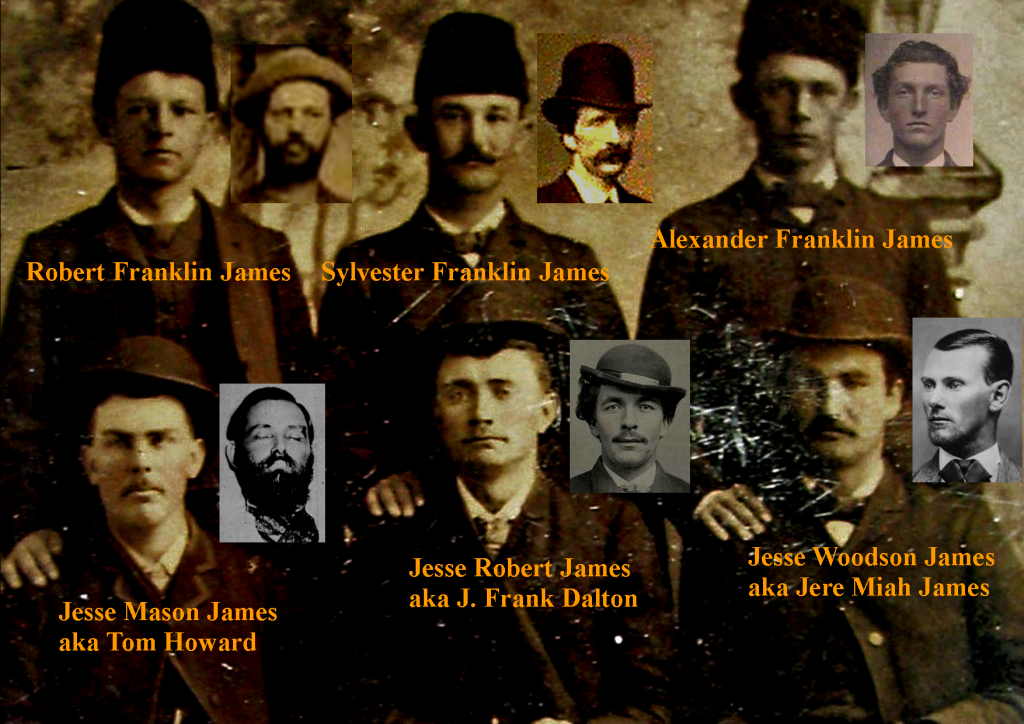Three sets of cousins named Frank and Jesse James / RJ Pastore Collection