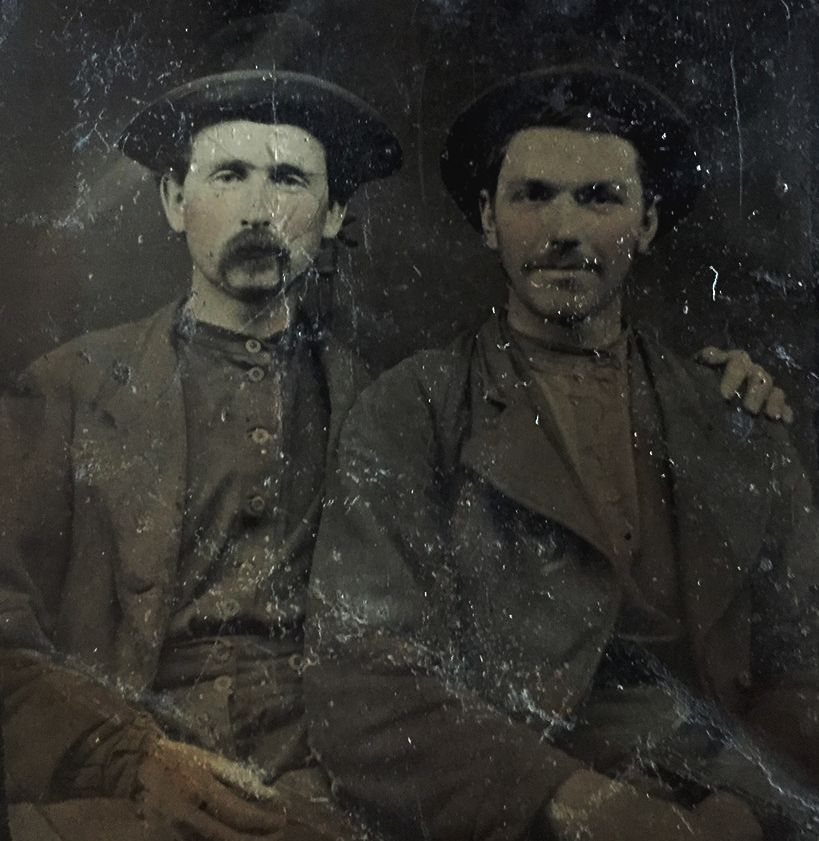 Jesse Robert James (R) and S. Frank James (L) / RJ Pastore Collection