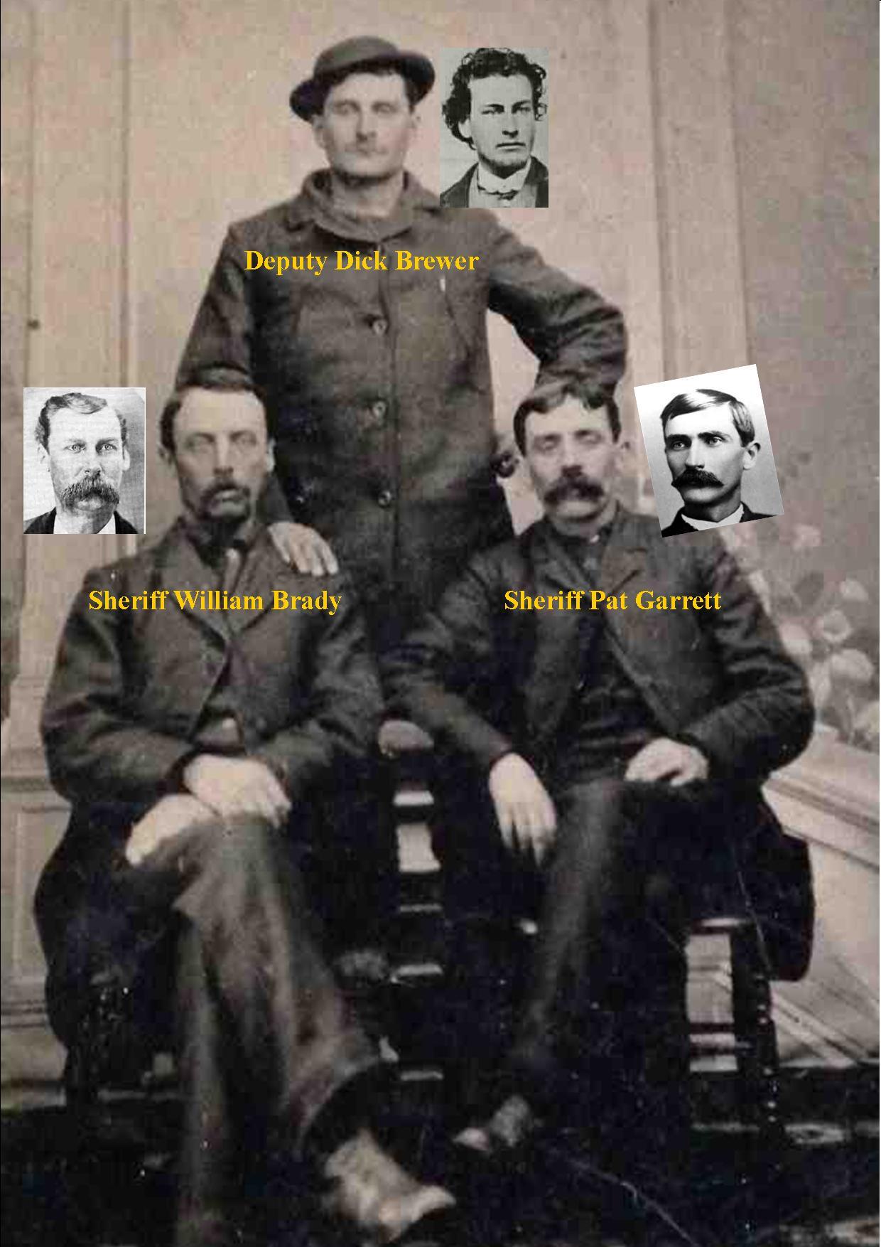 Sheriff Brady (left) Sheriff Garrett (right) Deputy Brewer (rear) / RJ Pastore Collection
