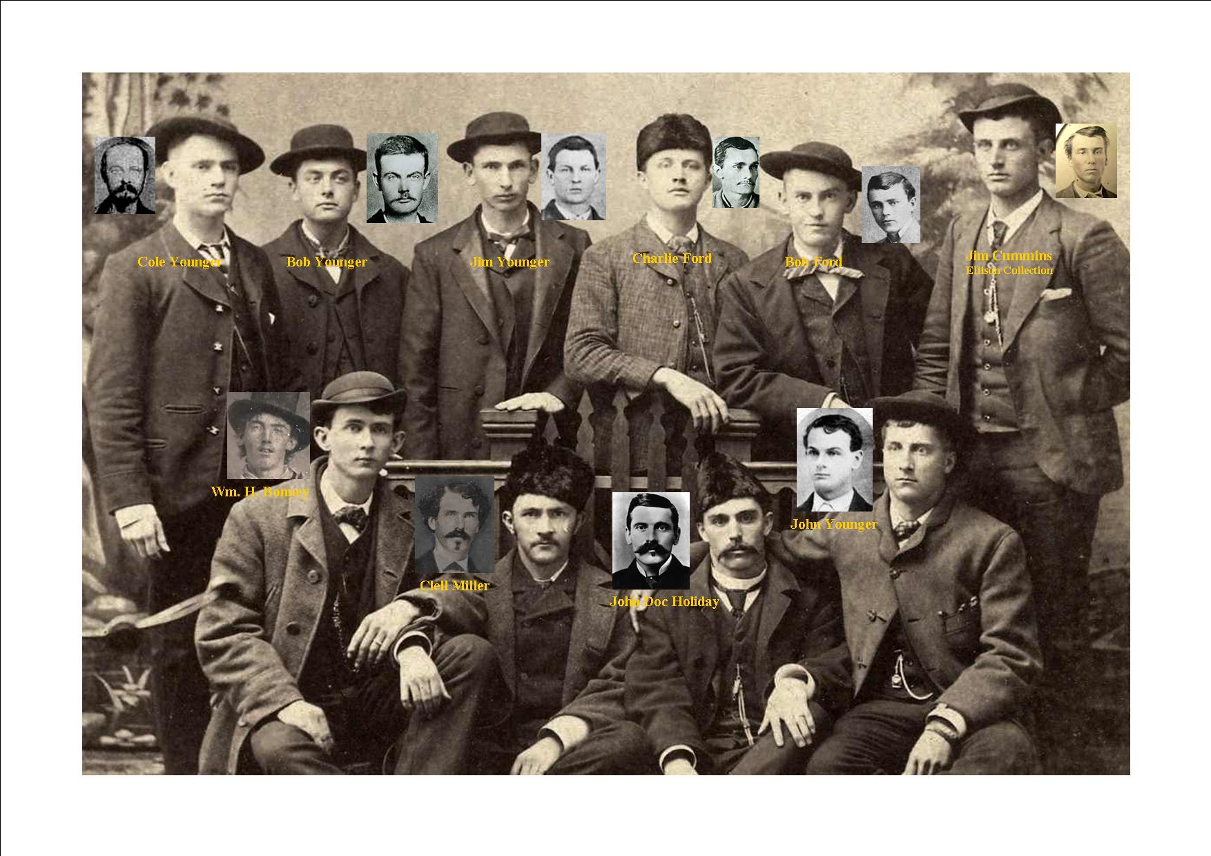 Billy the kid doc holiday younger brothers and more jesse james photo album - Gang gang ...